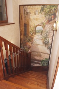 Фреска на лестнице. Реализация