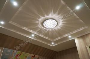 Потолок и освещение в детской