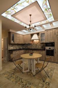 Зона кухни-столовой